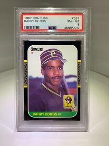 1987 Donruss Barry Bonds Rookie RC #361 PSA 8 NM-MT