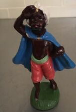 Antique Vintage Standing Wiseman Gift Aged Christmas Nativity Italy Crèche Black