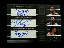 DAVID ROBINSON/KEVIN JOHNSON/KENNY SMITH 2010-11 ELITE BLACKBOX TRIPLE AUTO #/25