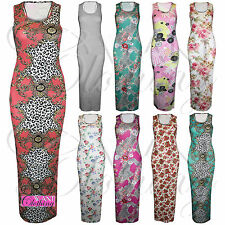 Full Length Stretch, Bodycon Floral Dresses for Women