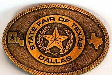 State of Texas Belt Buckle Dallas Fair USA