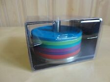 Oneida Colorburst Barware Set of 6 Coasters With Holder