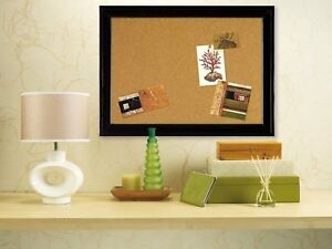 Cork Pinboard Wall Board Pin Message Notice Wooden Frame Push Office Memo Office