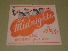 Midnights with Bobby Allan 1964 Window Card Display Poster