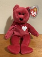 """RETIRED TY BEANIE BABIE """"Valentina"""" DOB February 14, 1998 - PERFECT CONDITION"""