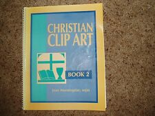 Christian Clip Art Book 2 by Jean Morningstar - Sheed & Ward - FREE SHIPPING!