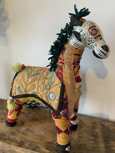 Decorative Colourful Ornamental Textile Indian Horse