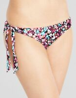 LADIES BLACK FLORAL TIE SIDE BIKINI BRIEF Figleaves NEW