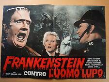 1963-FRANKENSTEIN CONTRO L'UOMO LUPO-Cinema-Regia di R.W.Neill-Fotobusta 3