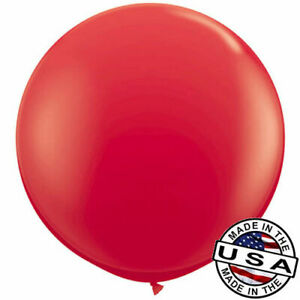 """3ft HUGE 36"""" Bright Red Qualatex Latex Balloon Party Decoration Birthday Wedding"""