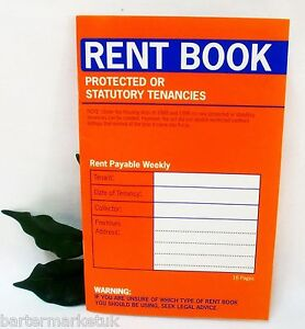 Rent Book PROTECTED OR STATUTORY TENANCIES x1
