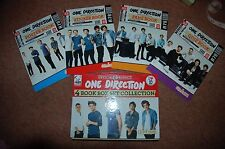 New 1D One Direction 4 mini book case style box set - Quiz Sticker Fan Poster