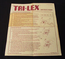 VINTAGE INSTRUCTIONS FOR THE 1978 MEGO 2-XL TRI-LEX  ROBOT 8 TRACK GAME BOX USED