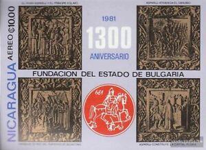 Nicaragua Bloque 139 (compl.edición) nuevo con goma original 1981 fundación prim