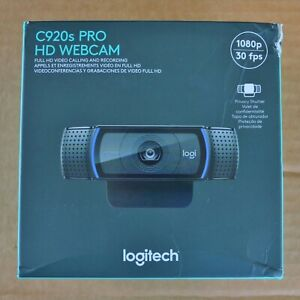 Logitech C920s PRO HD Webcam Full 1080p w/ Privacy Shutter New Open Box