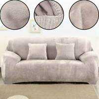 4seat Sofa Covers Easy Fit Stretch Protector Soft Couch Cover Thick Plush Velvet