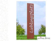 """Edelrost Gartenstele/Gartenstecker """"Lieblingsplatz"""", H=120 cm"""