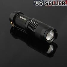 (2-pack) Mini 7W 300LM LED Flashlight Torch Adjustable Focus Zoom Light Lamp 2X