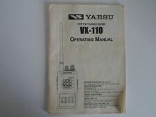 YAESU VX-110 (GENUINE PRINT INSTRUCTION MANUAL ONLY)....RADIO_TRADER_IRELAND.
