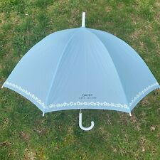 Marc Jacobs Umbrella Large Rain Daisy Parfums Sky Blue White Handle Spring NEW