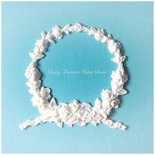 1x Shabby Chic Rose Wreath Furniture Applique Onlay Decorative Appliques