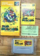 MINT SUPER MARIO WORLD COMPLET FAMICOM NINTENDO SNES SFC NTSC JAPANESE CIB OVP