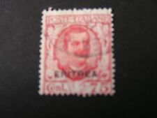 *ERITREA, SCOTT # 99, 75c VALUE 1926 ITALY STAMPS OVPT KING HUMBERT I USED
