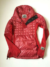 Alp-n-Rock Traverse Anorak Black Pullover WOMENS SIZE 1 SMALL RED PERTEX DOWN