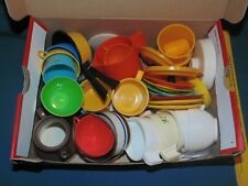 Pretend Children's Play Pots Pans Dish - vintage lot silver stone aluminum