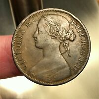 1862 Great Britain Penny, Queen Victoria, KM# 749.2, XF