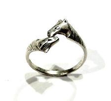 Bijou argent 925 bague têtes de chevaux  taille 55 ring