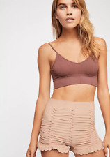 NEW Free People Intimately Ruched Seamless Shorts in Tan sz XS/S & M/L $49.78