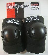 Elbow 187 Killer Pads Pro Skate Size: X-Large Skateboard Roller Derby Black