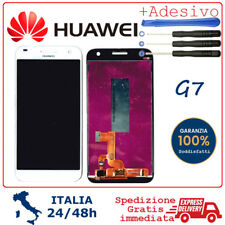 Display LCD e Touch Screen Vetro Assemblato Per HUAWEI ASCEND G7 G7-L01 BIANCO