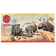 Airfix Vintage Classics 25PDR Field Gun and Quad 1:76 Art. A01305V Geschütz