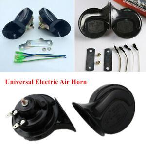 1Pair Loud Dual-tone Snail Horn Universal Car Truck Electric Air Horn 12V 110 dB