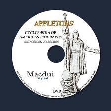 Appletons' cyclopædia of American biography – 6 Vintage PDF eBooks on 1 DATA DVD