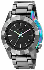 Nixon Women's A2881698 Monarch Gunmetal Multi Color 38mm Watch A288-1698