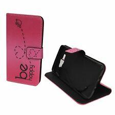 Schutz Hülle für Handy Samsung Galaxy J7 2016 Be Happy Pink Tasche Case Wallet