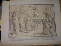 Alfred RETHEL RARE Litho SOCIALISME DANSE MORTS MACABRE VANITE REVOLUTION 1848 c