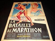 LA BATAILLE DE MARATHON ! steve reeves  affiche cinema 1959