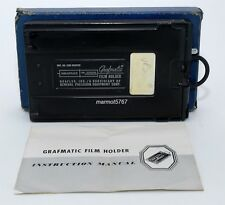 GRAFLEX GRAFMATIC 4 x 5 FILM HOLDER #1268 w/6 SEPTUMS!! EXCELLENT CONDITION!!