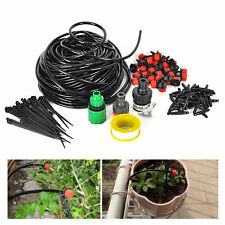 25M DIY Micro Drip Irrigation System 30x Dripper Self Plant Watering Garden Hose