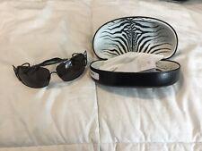Roberto Cavalli Cicani 301S Initial RC Women Black Sunglasses Very Chic!