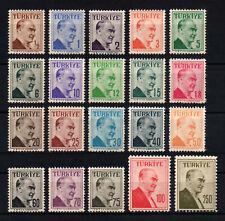 1957 TURKEY ATATÜRK REGULAR STAMPS DOUBLE FRAME COMPLETE SET OF 20 MNH**