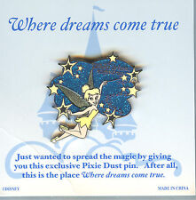 Disney Tinker Bell - Where Dreams Come True Pin...Mint on Card!!