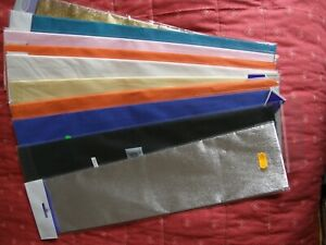 """CREPE PAPER -  """"  TEN  PACKS  ' 500mm.  x  1.5 Metre ' Includes GOLD & SILVER  """""""