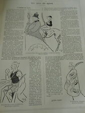 Un Peu de Sport  L'Académie des Sports Franz Reichel Baron du Treil Print 1905