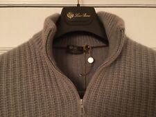Loro Piana Men's Icer Pull Baby Cashmere Heavy Sweater Sz 52 Retail $2,785.00