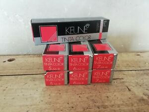 LOT 7 COULEURS KEUNE TINTA COLOR ULTIMATE RED INFINITY + SILK PROTEIN UV LOT 5